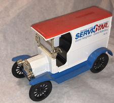 Ertl 1912 Ford Open Front Panel Van Truck Servistar Bank Die-Cast!