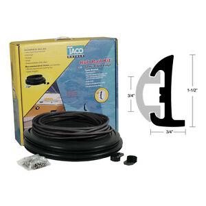 "Taco V11-9795-BBK Semi-Rigid Rub Rail Kit 50' Black & Black Insert 1-1/2""x3/4 MD"