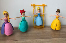 DISNEY PRINCESS PETAL FLOAT Ariel Cinderella Bath Toy Action Figures By Mattel