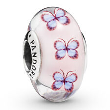 PANDORA Murano Charm Element 797893 Glass Butterfly Silber Bead