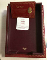 Cartier Bordeaux Desk Tray Paper Placement Holder with Case and Guarantee Card