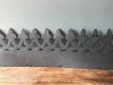 Decorative Metal Trim, Grey Ornate Antique Vintage Edging Pelmet Lambrequin 86cm