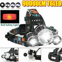 T6 LED Rechargeable Headlamp Headlight Flashlight Head Torch QA