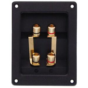Lautsprecherterminal doppelter Steck- und Schraubanschluss vergoldet Terminal