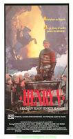 HENRY V MOVIE POSTER KENNETH BRANAGH  1989 Australian Daybill Size 13x26 Inch
