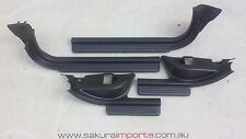 Subaru WRX GDB STi 2002 - 2007 Interior Scuff Plates Set (Black)