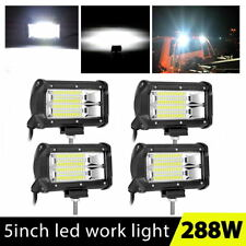 4x 288W 5Inch LED Car Work Light Bar Flood SUV Boat 4WD Driving Offroad ATV Lamp