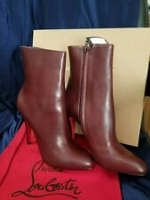 New in the box Christian Louboutin Bootie Short Boot Ankle Boot Burgundy Size40