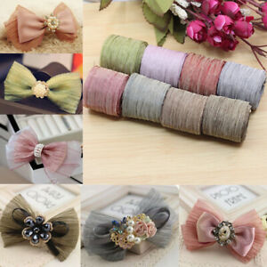 1Yard Bowknot Making Mesh Ribbon Gift Packing Flower Wrapping Tape Party au