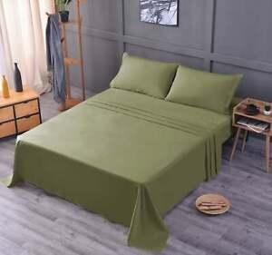 Bamboo Bed Sheet Set | 2 Pillowcases + Flat Sheet +  Fitted Sheet
