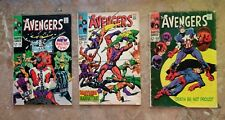 Avengers #54,55 and 56  1st CAMEO AND 1st FULL APPEARANCE OF ULTRON