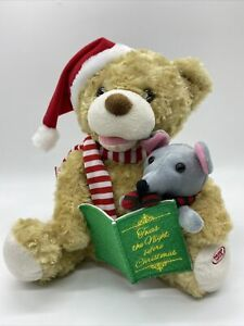 Animation Motion Plush Bear Mouse Night Before Christmas Reads Story