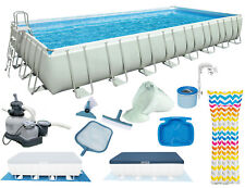 INTEX Ultra Frame Swimming Pool 975x488x132 cm Rechteck Stahlwand 26372