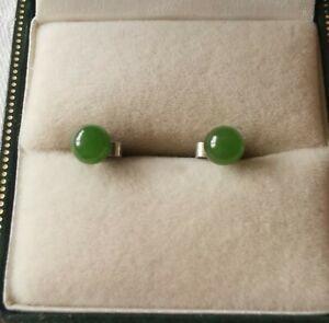 REAL Jade Sterling Silver Earrings