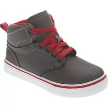 4fd9f731b42307 Youth BOYS Sz 3 SNEAKERS High Tops Red Gray SHOES Faded Glory Casual NWT