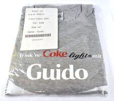 Coca-Cola Coke Guido T-Shirt Grey Size XXL NAME FIRST NAME NAME Shirt