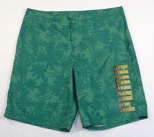 Puma Green Tropical Pattern Boardshorts Swim Trunks Mens LOGO BOARD SHORT SZ 40