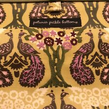 Petunia Pickle Bottom Peacock Morning in Mumbai Diaper Bag Clutch Changing Pad