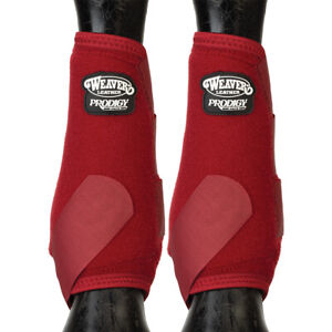 Weaver Horse Front Boots Prodigy Athletic 2 Pack Burgundy U-8-06