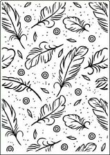 "Crafts Too Embossing Folder 5""x 7"" - FEATHERS - CTFD3102"