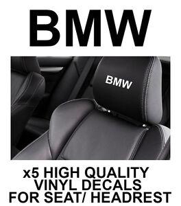 BMW LOGO HEADREST CAR SEAT DECALS Vinyl Stickers - Graphics X5