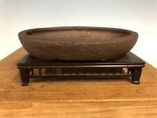 Heain Tofukuji Sr. Shohin Bonsai Tree Pot. Pear Skin Style 6 3/8�