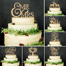 Wooden Mr Mrs Cake Topper Wedding Party Anniversary Decoration