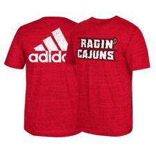 "Louisiana Ragin' Cajuns NCAA Adidas ""Franchise"" Big Team Logo Red  T-Shirt"