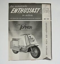 HARLEY-DAVIDSON ENTHUSIAST MAGAZINE MAY 1959 PRESENTING THE TOPPER SCOOTER