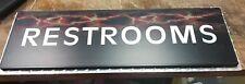 Racetrack Restroom Sign Diamond Plate Back