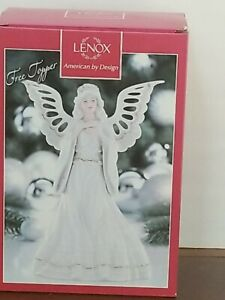"Lenox Angelic Visions  Angel Tree Topper 8"" IOB - NIB"