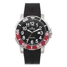 Croton Men's CA301280BSRD Deep Sea Rotating Multi Color Bezel Black 48mm Watch