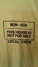 """Bon Jovi Local Crew Yellow XL Shirt """"This House Is Not For Sale"""" Tour"""