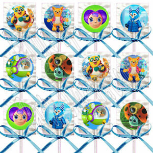 Agent Oso Lollipops Party Favors Supplies Suckers with Turquoise Ribbon - 12 pcs