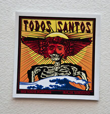 "Totos Santos Surfer Surfing Stickers Decals 2""x2"" Epic Surf Breaks California"