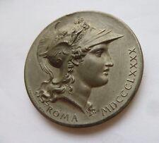 MEDAGLIA mm 54 TIRO A SEGNO ROMA 1890 POGLIAGHI ART NOVEAU LIBERTY PREMIO