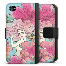 Apple iPhone 4 Tasche Hülle Flip Case - Arielle royal floral