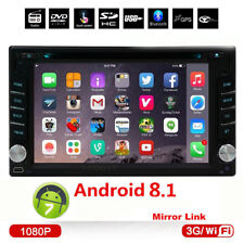Android 8.1 2Din Car DVD CD Player Audio Stereo Radio GPS Navigation OBD WIFI
