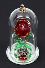 """New Disney Arribas Brothers Beauty & the Beast Enchanted Rose 4.5"""" Glass Dome"""