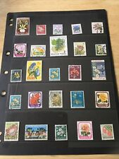 72 World Postage Stamps - Flowers Plants & trees - on Stock Cards. Lot 29