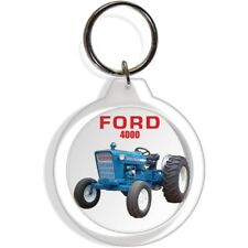 FORD GARDEN FARM TRACTOR INDUSTRIAL KEYCHAIN KEY CHAIN RING 4000 EQUIPMENT PART