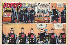 Pottsy by Jay Irving - Nyc Police - color Sunday comic page - February 10, 1957
