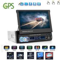 "7 ""1DIN HD Pantalla Táctil Bluetooth Car GPS MP3 MP5 Mirror Link Player FM Radio"