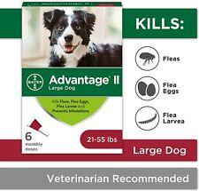 Advantage Ii 21-55 lbs Large Dog Dogs,Flea & Tick protection & Treatment -6-dose