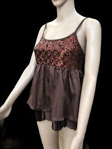 Womens Dressy Sequin Evening Top, Clubbing Top, NEW Size 10