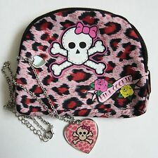 Charm Necklaces Pink Cookie Skull Heart Necklace + Charm Bag