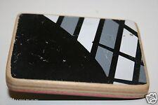 Vintage Black & White Wooden Skateboard Deck Skater Custom Belt Buckle