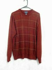 Dockers Long Sleeve Pullover Sweater Maroon Check Size Large