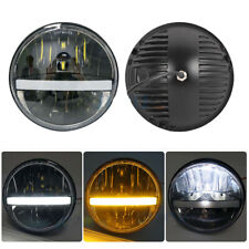 40W 7 Inch LED Headlights DRL Amber Turn Signals For Jeep Wrangler Jk TJ Hummer