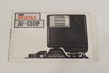 Asahi Optical / Pentax AF130P Camera Flash Instruction / Owners Manual • 06631